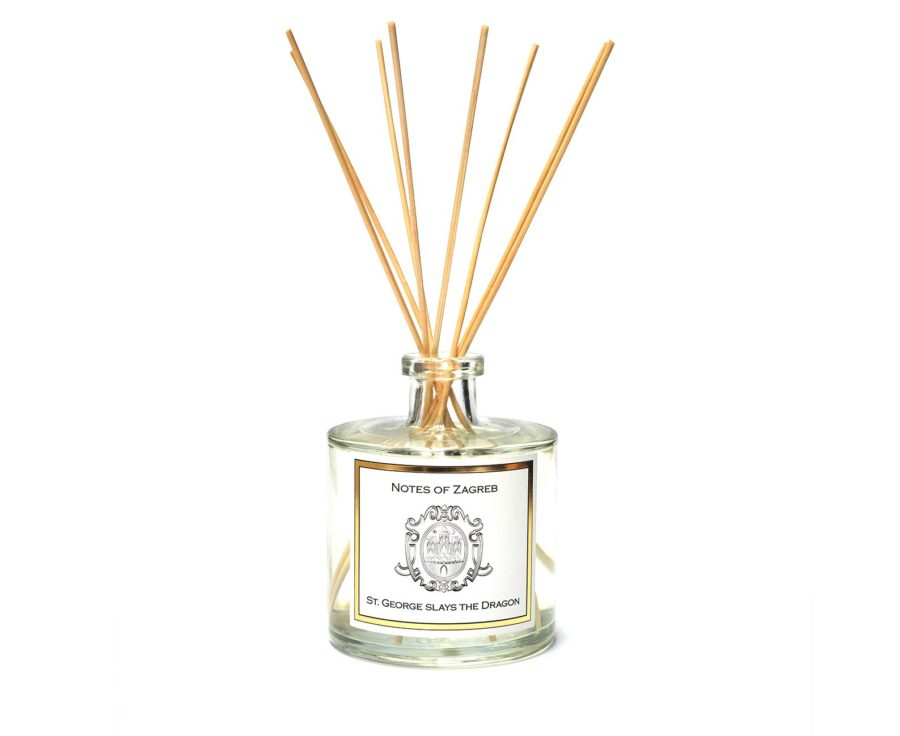 Notes of Zagreb - St.George slays the Dragon home fragrance-reed diffuser