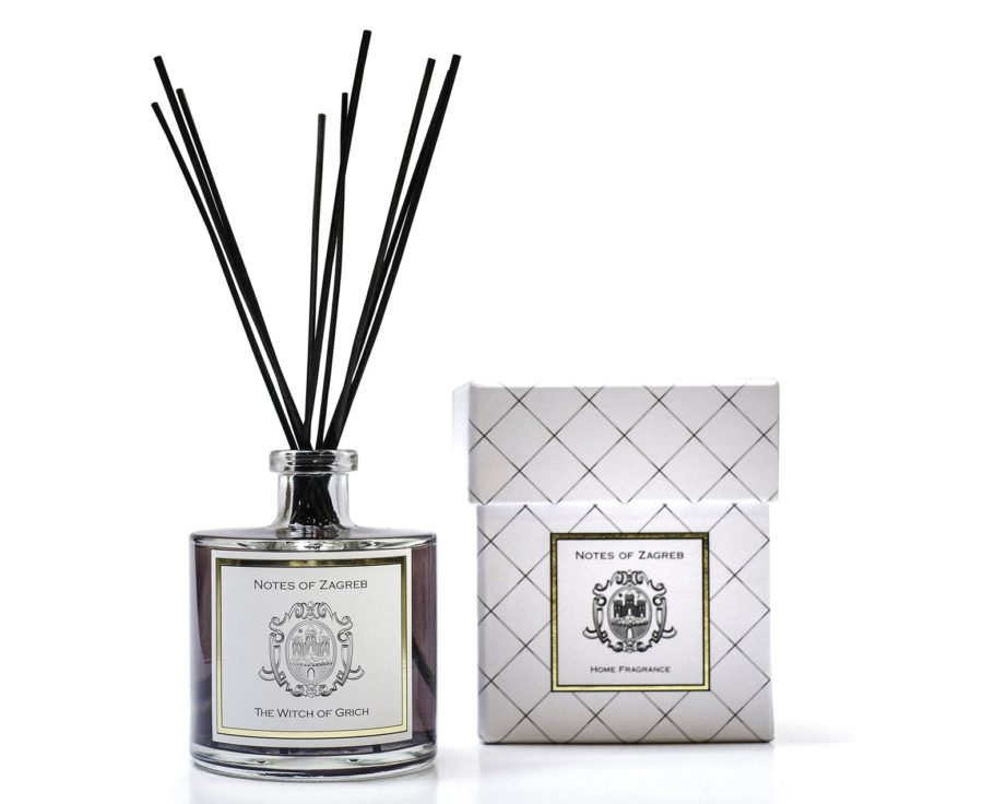 Notes-of-Zagreb-home-fragrance-reed-diffuser-The-Witch-of-Grich-scent-box
