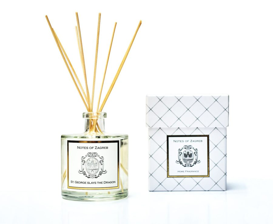Notes of Zagreb St.George Slays the Dragon home fragrance reed diffuser